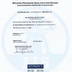 Certificazione sui processi di saldatura
